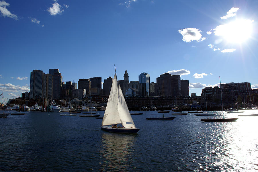 Boston Photograph - Boston Harbor by Olivier Le Queinec