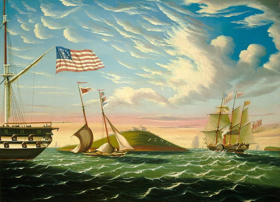 Thomas Chambers Painting - Boston Harbor  by Thomas Chambers