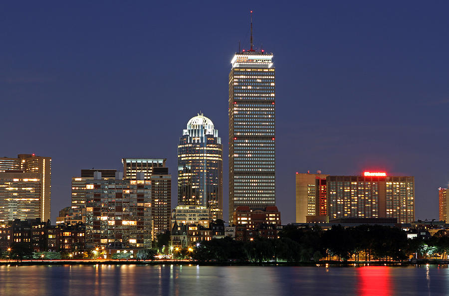 Boston Photograph - Boston Landmarks And Sheraton Hotel by Juergen Roth