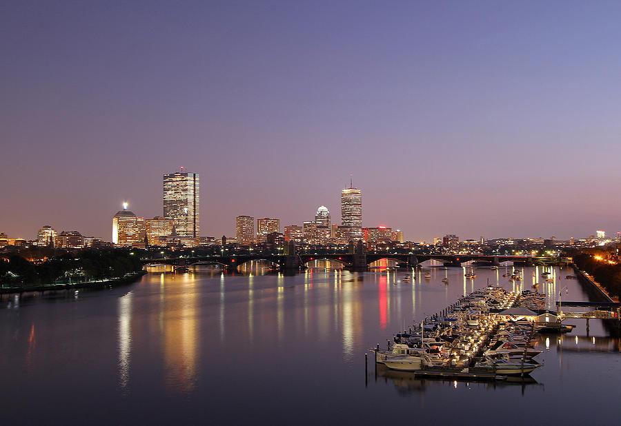 Boston Photograph - Boston Landmarks At Twilight by Juergen Roth