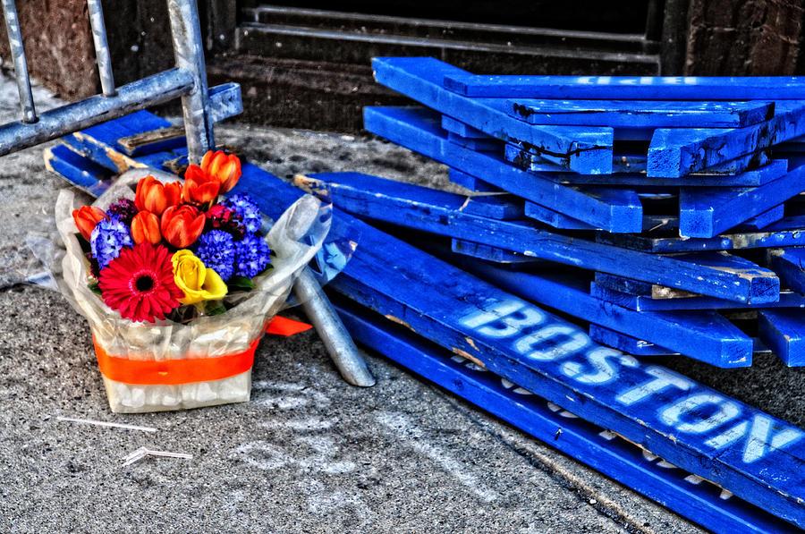 Sports Photograph - Boston Marathon Blues by Mike Martin