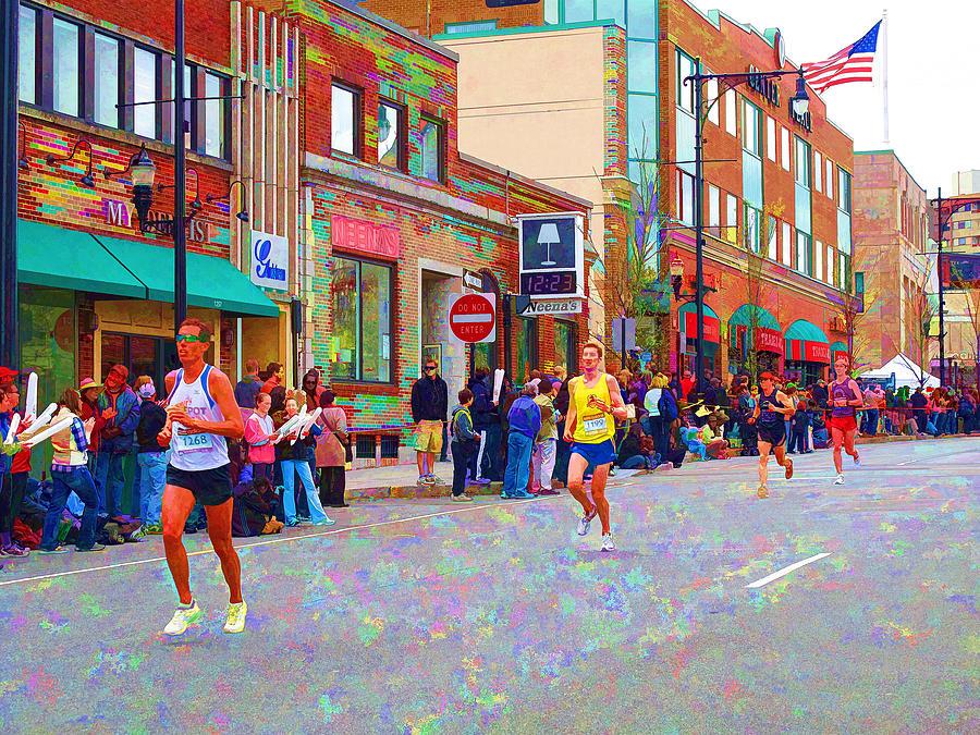 Marathon Photograph - Boston Marathon Mile Twenty Two by Barbara McDevitt