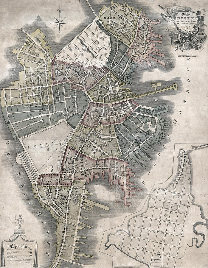 Boston Post Revolution Map 1814 on map of boston streets during the revolution, map of boston rhode island, map of boston scotland, map of boston 1776, map of boston 17th century, map of boston during the boston massacre, map of boston art, map of boston united states, map of boston massachusetts, map of boston colonial, map of boston england, map of boston 1800s, map of boston cemeteries, map of revolutionary battles, map of patriot during american revolution victory,