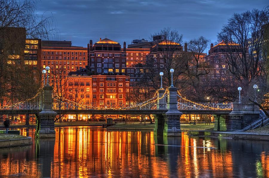Boston Photograph - Boston Public Garden Lagoon by Joann Vitali