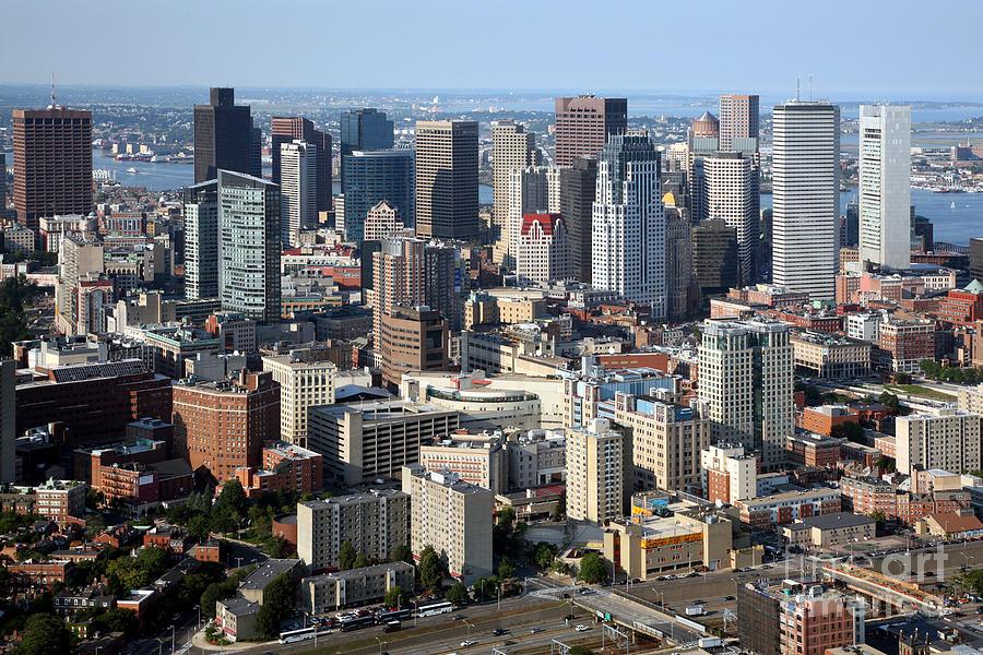 boston skyline photograph by bill cobb