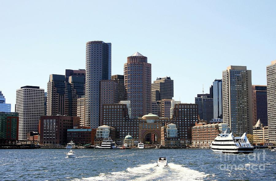 Usa Photograph - Boston Skyline by David Gardener