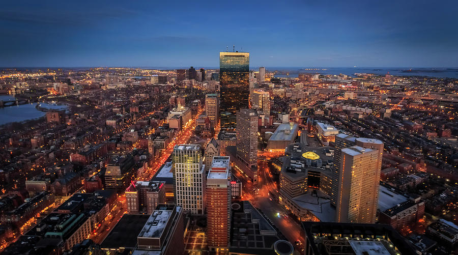 Boston Skyline From The Prudential Photograph by (c) Swapan Jha