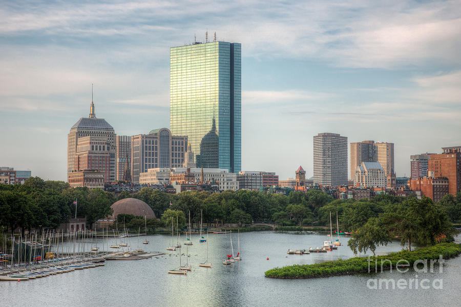 America Photograph - Boston Skyline I by Clarence Holmes