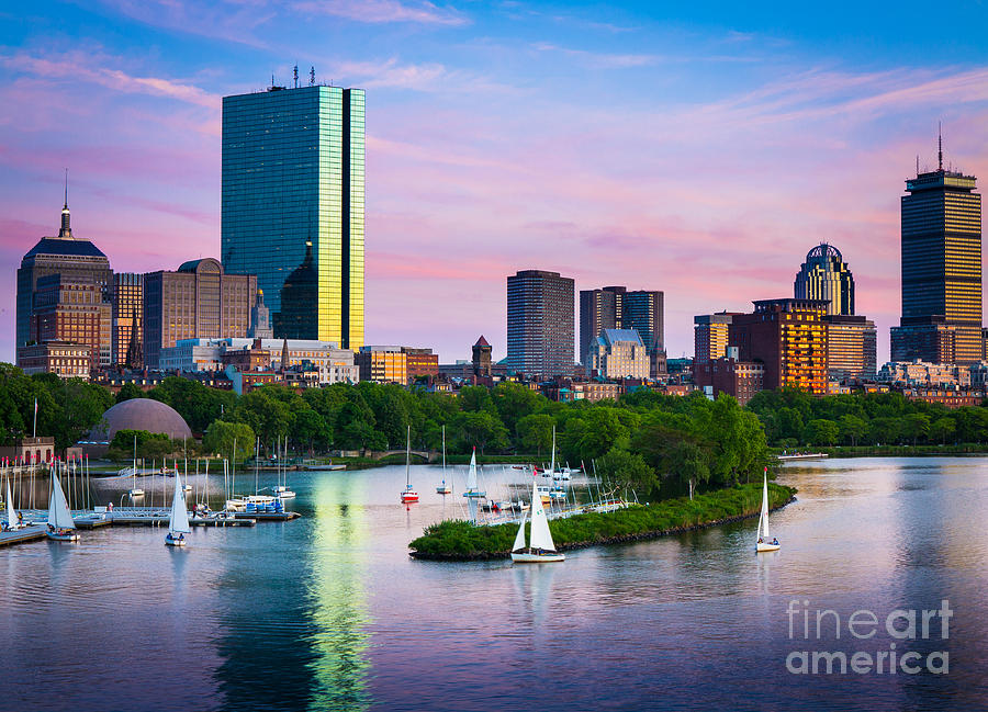 America Photograph - Boston Skyline by Inge Johnsson