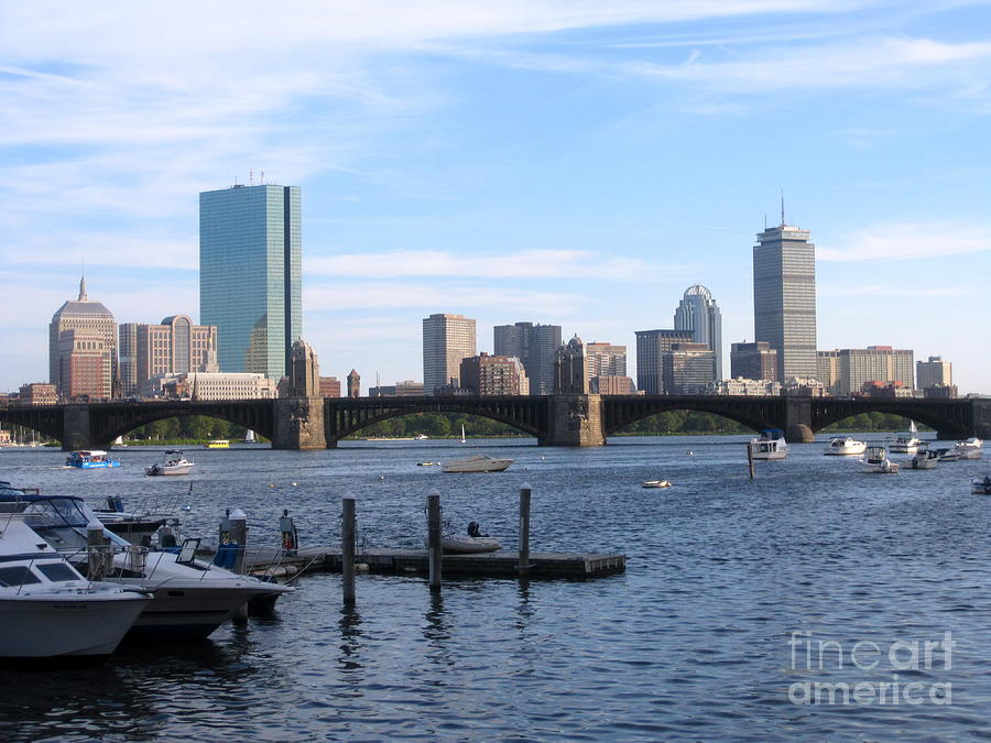 Landscape Photograph - Boston Skyline by Jason Clinkscales