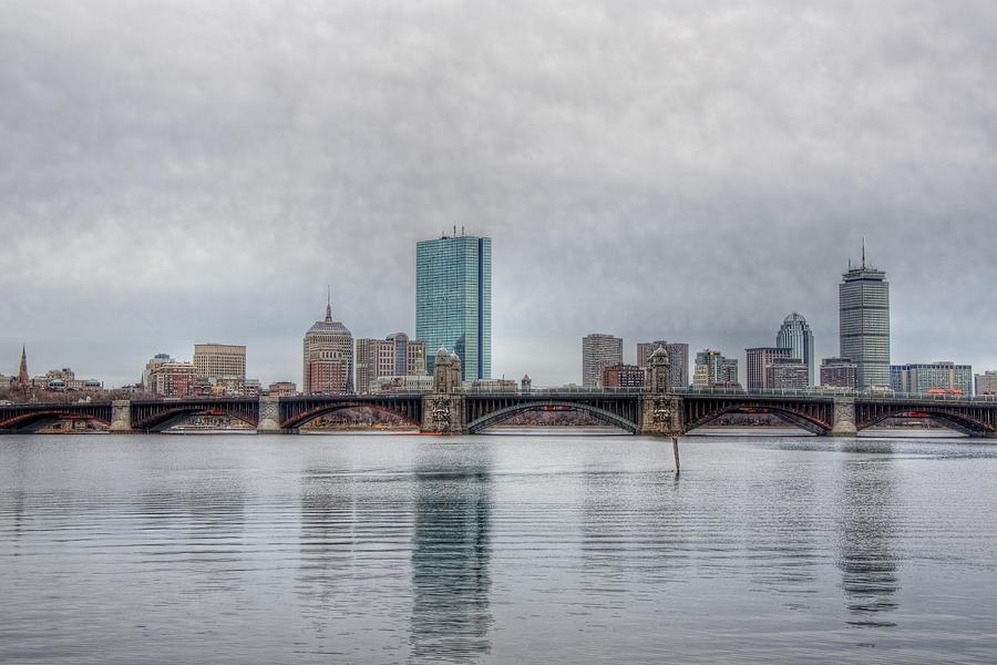 Massachusetts Photograph - Boston Skyline On A Grey Day by Joann Vitali