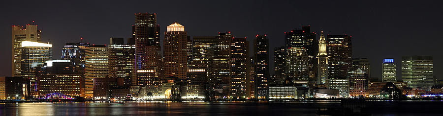 Boston Skyline Panoramic Photograph