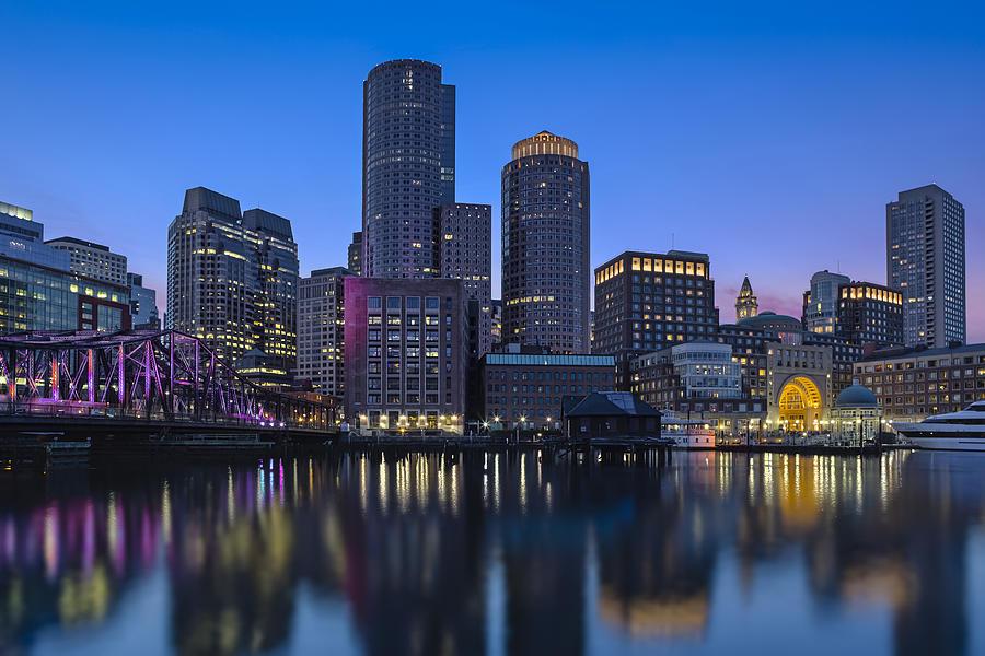 boston skyline seaport district susan candelario