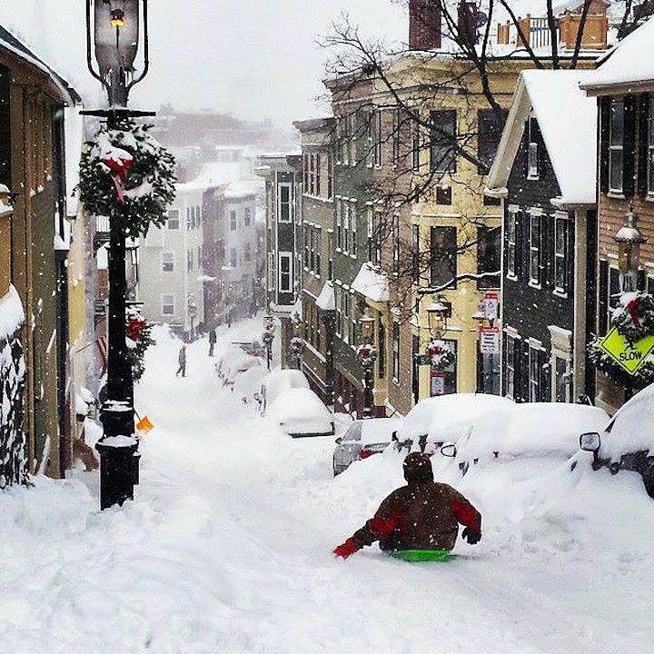 Boston Photograph - Boston Snow Day by Sarah Levy