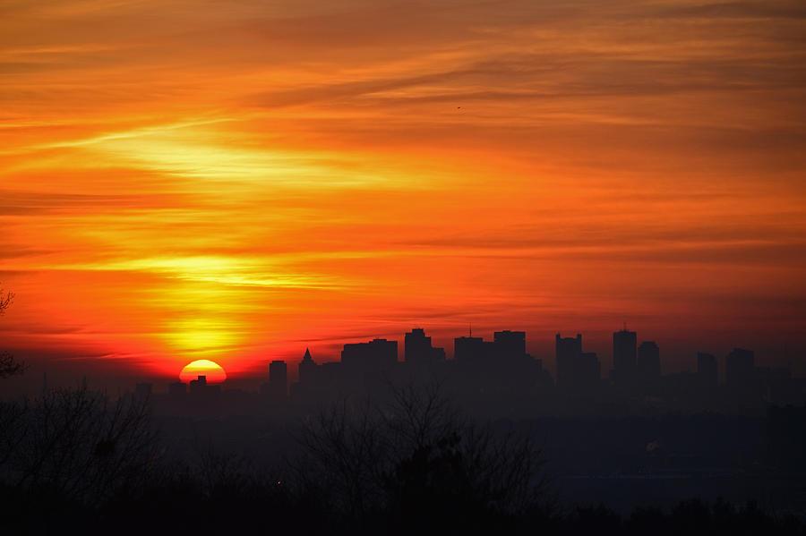 Boston Photograph - Boston Sunrise by Ken Stampfer