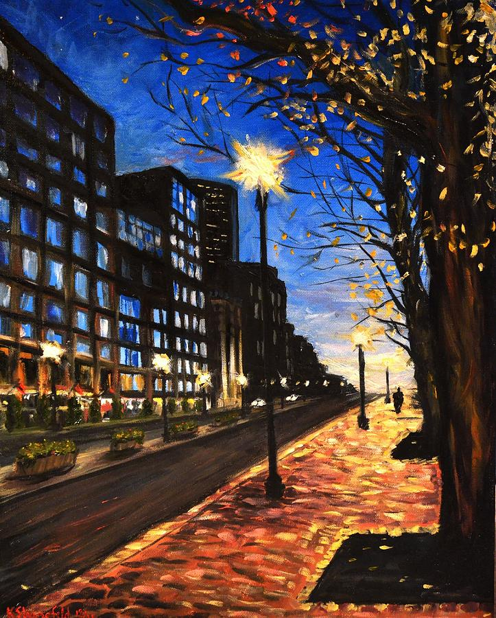 Boston Painting - Boston Tremont Street by Karen Strangfeld
