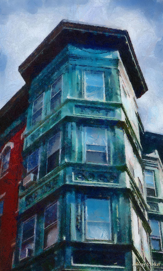 America Painting - Bostons North End by Jeff Kolker