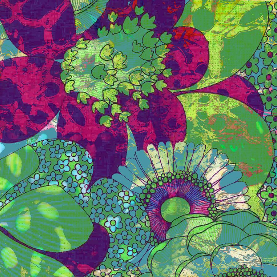 Botanical Art Oopsy Daisy I Mixed Media By Ricki Mountain