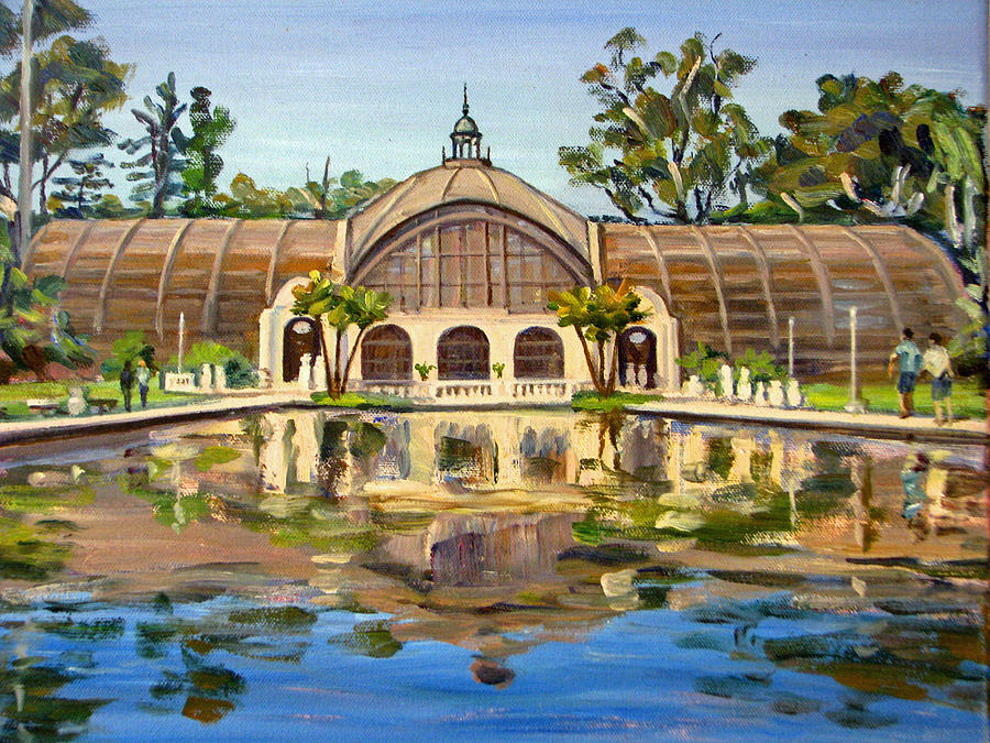 Botanical Building Balboa Park San Diego Painting By