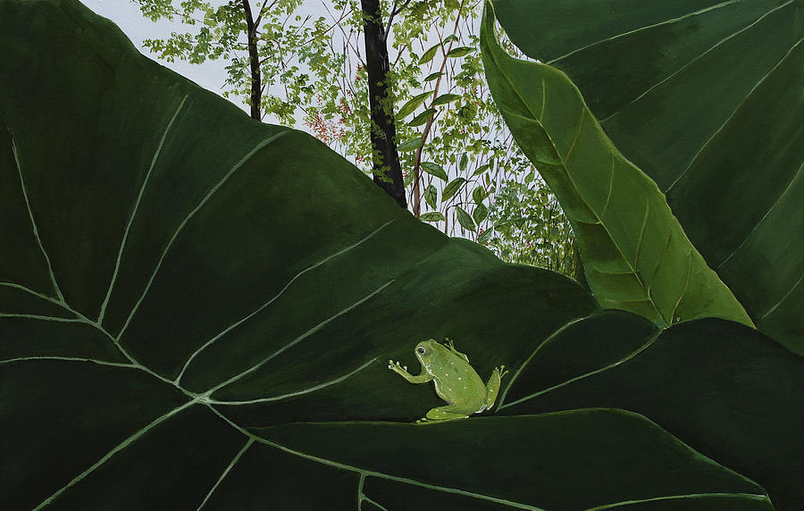 Botanical Garden Tree Frog Painting