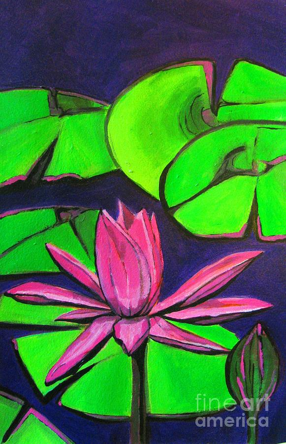 Lilly Painting - Botanical Lotus 1 by Grace Liberator