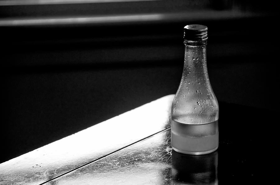 Oil Photograph - Bottle Near Window by Guillermo Hakim