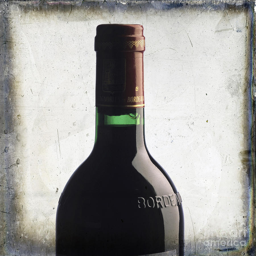 Studio Shot Photograph - Bottle Of Bordeaux by Bernard Jaubert