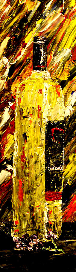 Popular Painting - Bottle Of Wine  by Mark Moore