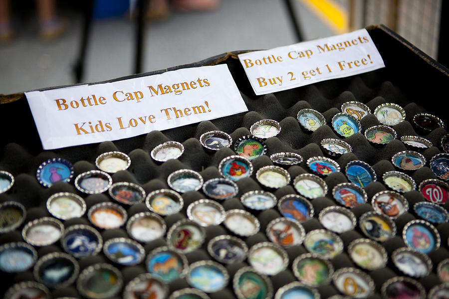 Bottlecap Magnets For Sale Tapestry - Textile by Fred Hanna