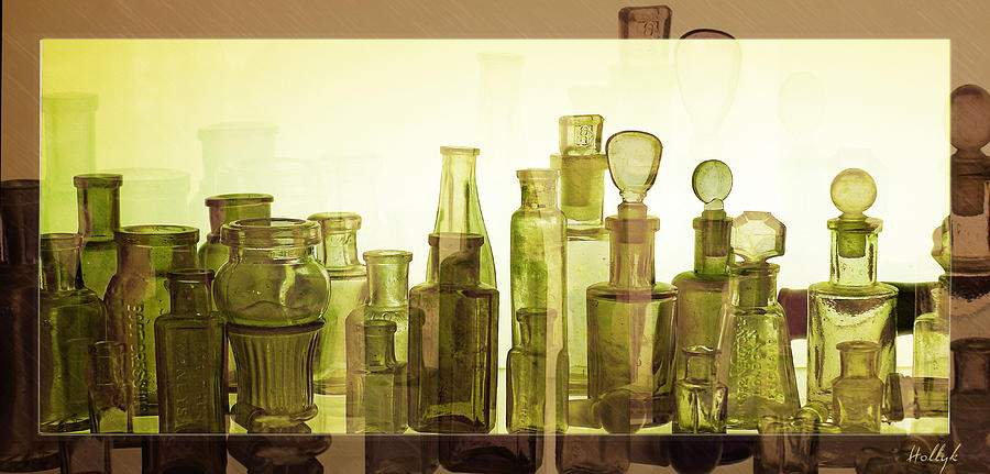 Bottles Photograph - Bottled Light by Holly Kempe