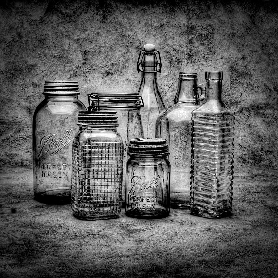 Bottles Photograph - Bottles by Timothy Bischoff