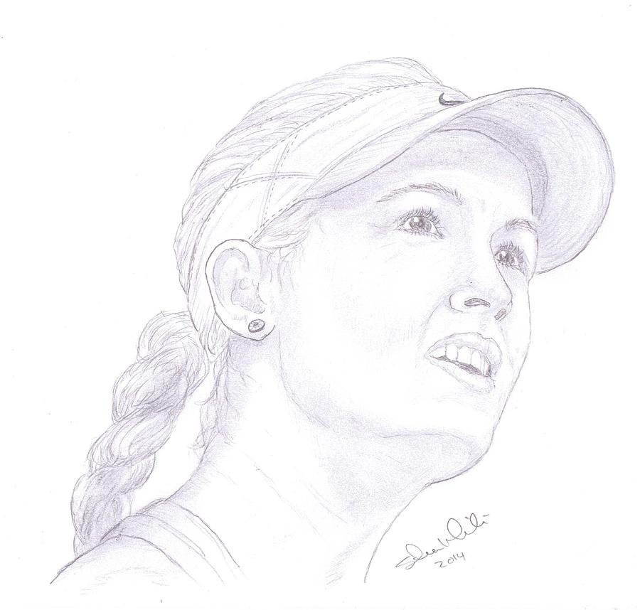 Eugenie Bouchard Drawing - Bouchard by Steven White