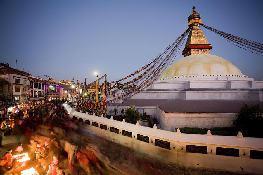 Boudhanath Temple Kathmandu Nepal Photograph by Kevin Miller