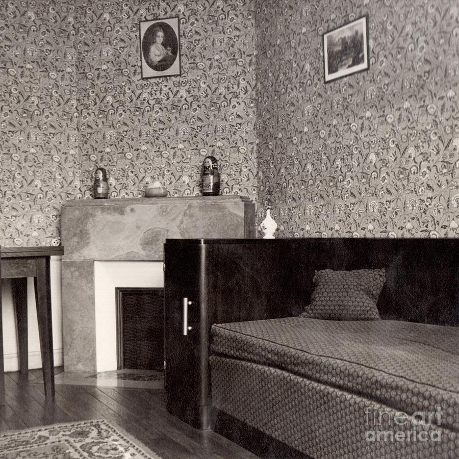Art Deco Paris Apartment: Boudoir In Art Deco Apartment Paris 1937 Photograph By