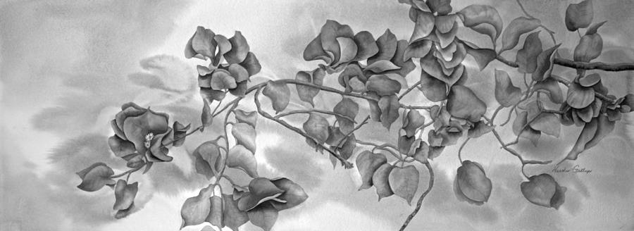Bougainvillea Painting - Bougainvillea in Contrast by Heather Gallup