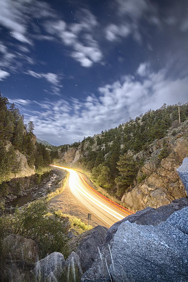 Night Photograph - Boulder Canyon Dream by James BO  Insogna