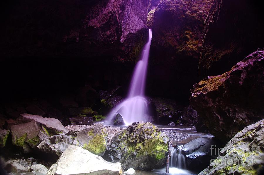 Waterfall Photograph - Boulder Cave Falls  by Jeff Swan