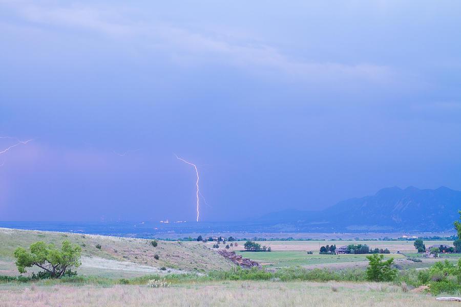 Lightning Photograph - Boulder Colorado Lightning Strike by James BO  Insogna