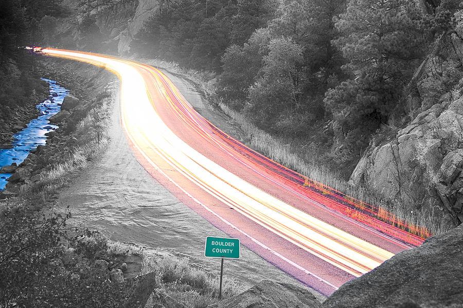 Boulder County Colorado Blazing Canyon View Bwsc Photograph