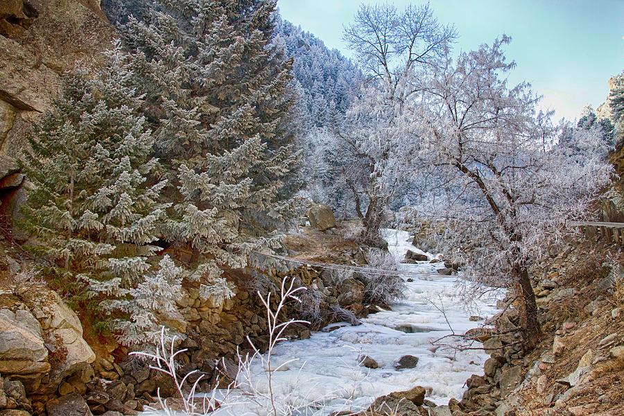 Boulder Creek Winter Wonderland Photograph