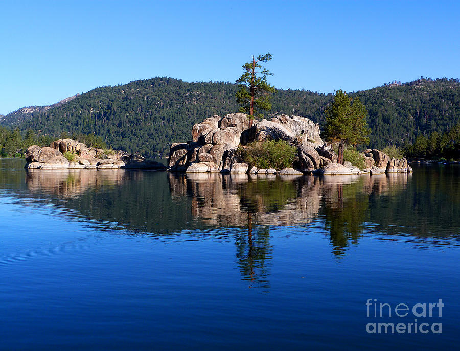 Island Photograph - Boulder Island - Big Bear Lake by Karey and David Photography