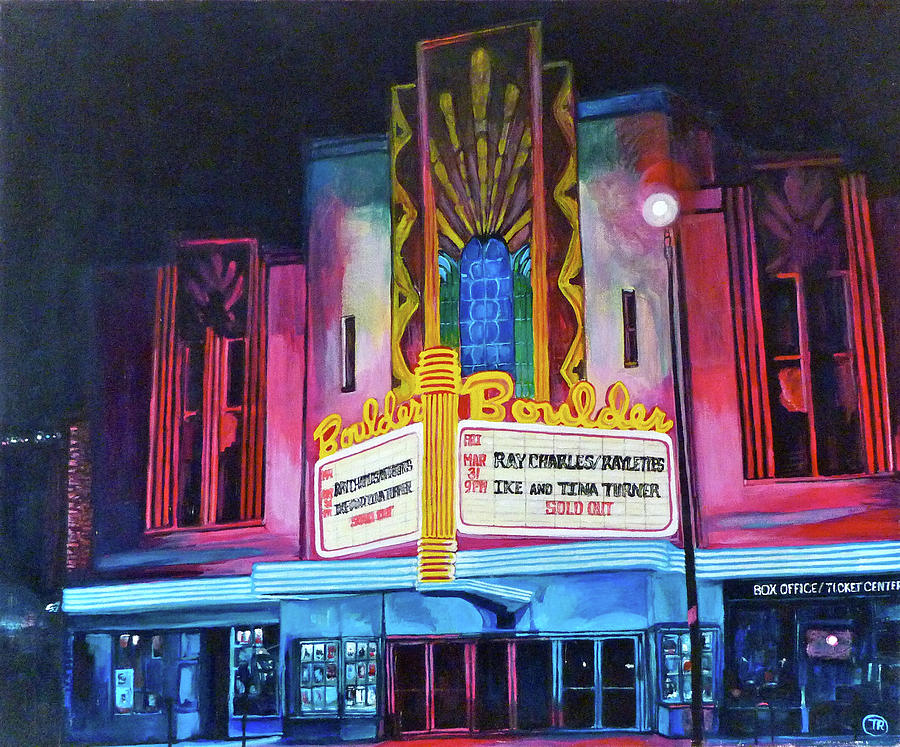 Boulder Painting - Boulder Theater by Tom Roderick
