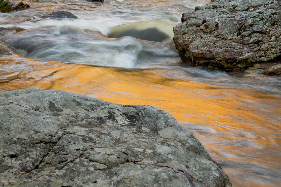 Babcock State Park Photograph - Boulders And Autumn Reflection by Nathaniel Kidd