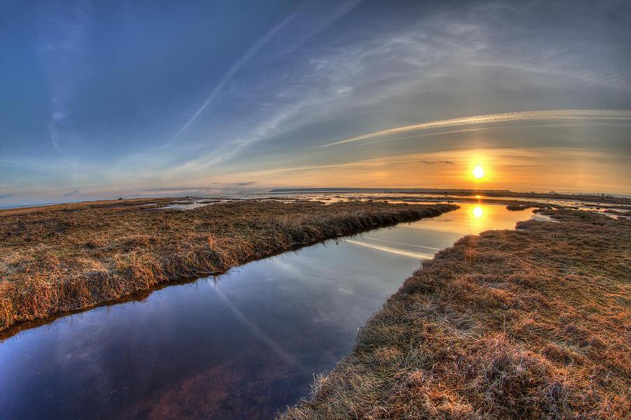 Boundary Bay B.c Sunset Photograph