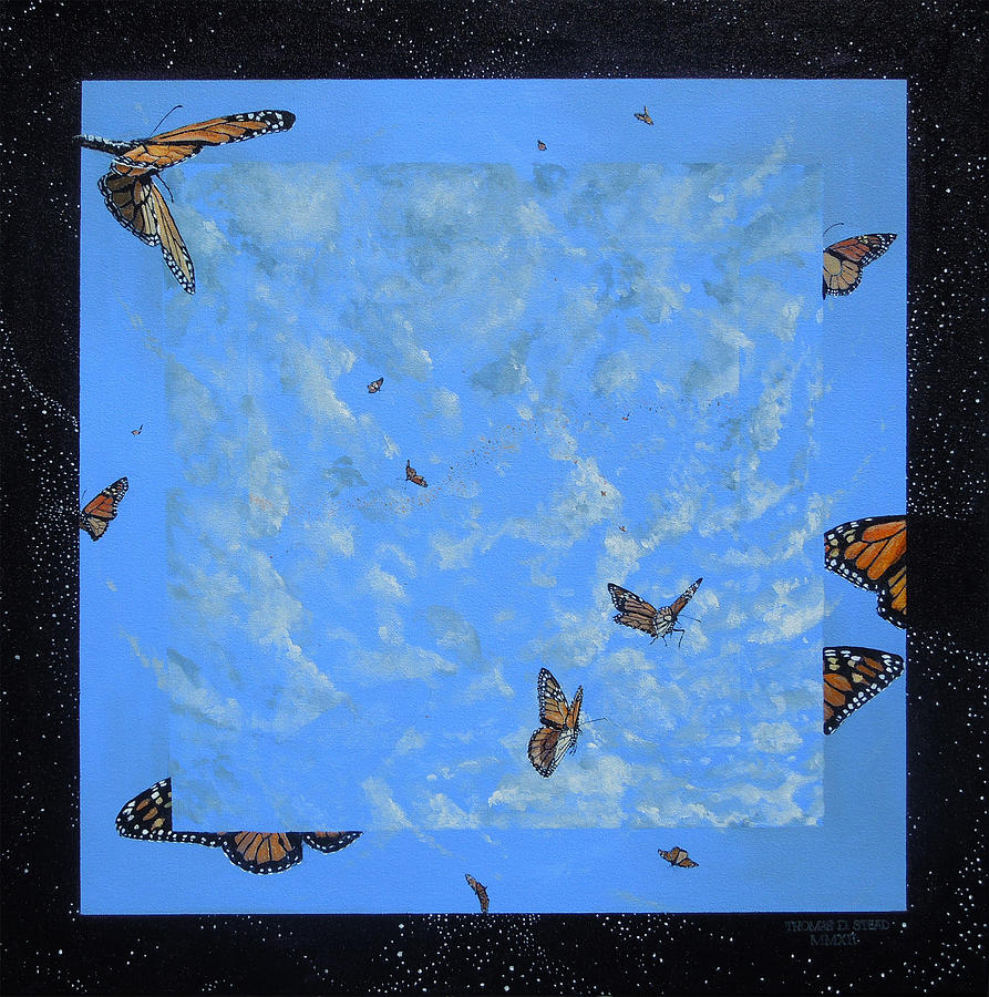 Monarch Butterflies Painting - Boundary Series V by Thomas Stead