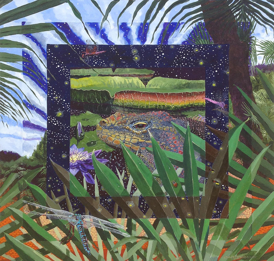 Iguana Painting - Boundary Series Xiii by Thomas Stead