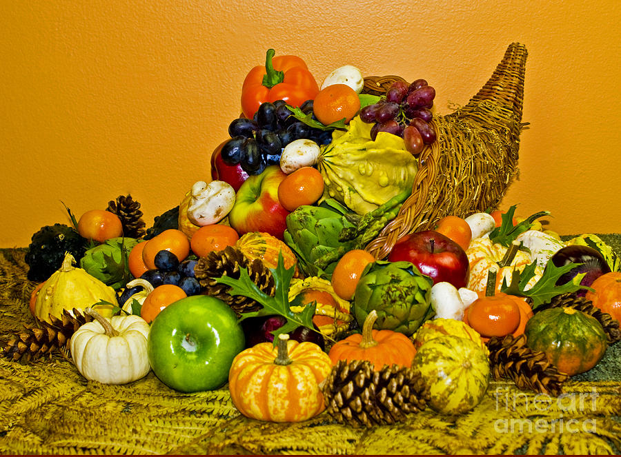 Cornucopia Photograph - Bountiful Harvest by Valerie Fuqua