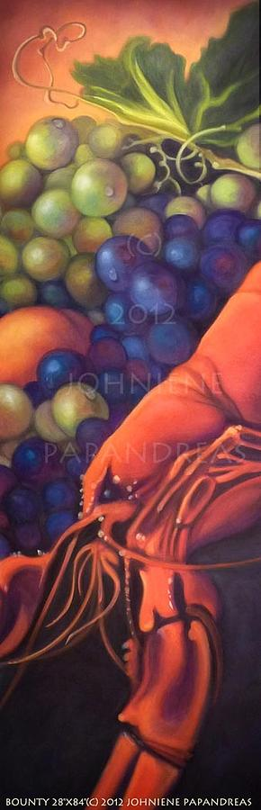 Lobster Painting - Bounty by Johniene Papandreas