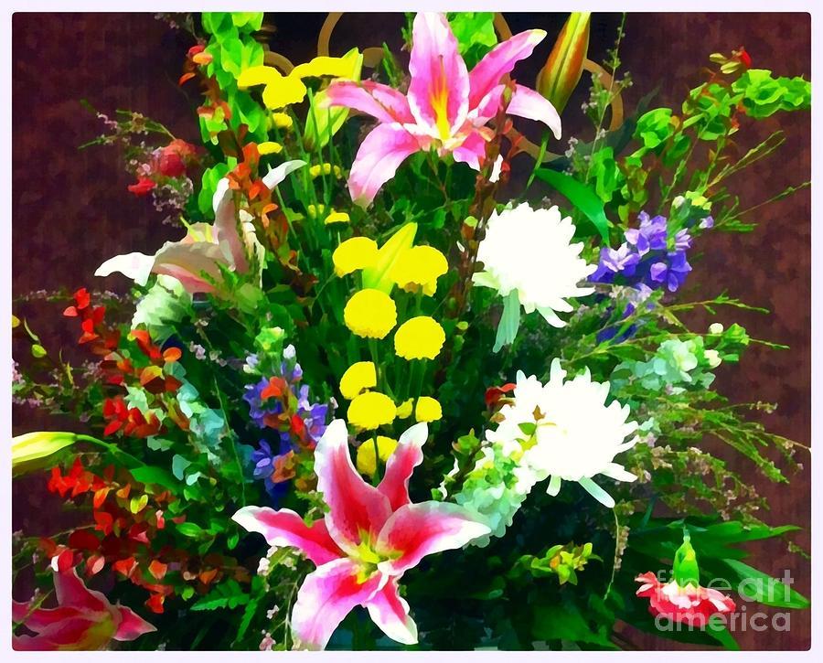 Bouquet Photograph - Bouquet Bounty by Saundra Myles