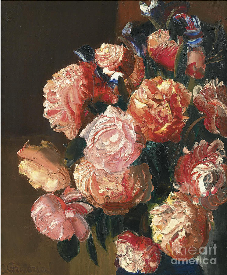 Russia Painting - Bouquet Of Flowers by Celestial Images